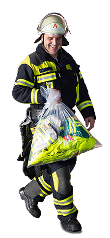Kontaminationsvermeidung für Schmutzwäsche bei der Feuerwehr